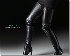 prada over the knee boots 2009