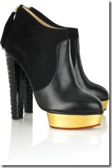 Charlotte Olympia Gold Platform Ankle boots