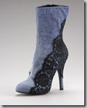 dolce  gavvana denim and lace ankle boot