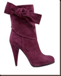 Christian Dior Purple Suede Ankle Boot  895