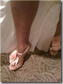 Mrs Angie Thompsons wedding shoes