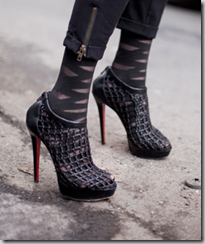 Christian Louboutin Coussin Caged Booties with socks