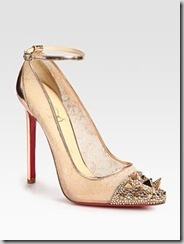 Christian Louboutin Metallic Leather Pumps  1495