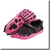 Fila Skeletoes in Pink and Black with bottom showing